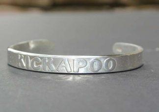 Silver Kickapoo Cuff Bracelet
